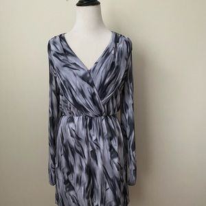 Medium V-Neck Gray Hazel Dress